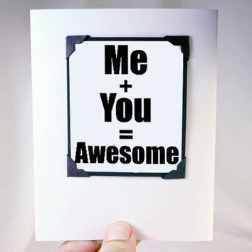 Funny Anniversary Card for Couples. Love You Card and Magnet. Anniversary Card for Him.