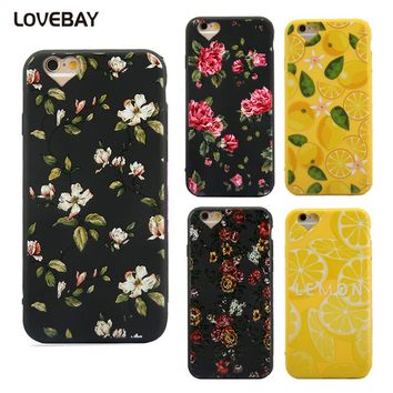 Phone Case For iPhone 7 7 Plus Creative Camera Protect Banana Flower Pattern For iPhone 7 7 Plus 6 6s Plus 5 5s SE Case Cover