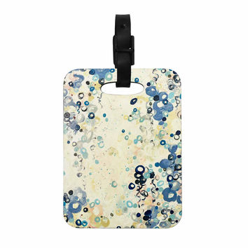 "Ebi Emporium ""And It's Up She Goes"" Blue Cream Decorative Luggage Tag"