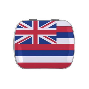 Patriotic candy tins with Flag of Hawaii