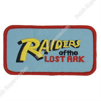 "4"" Raiders of the Lost Ark Indiana Jones TV MOVIE FILM Series Uniform Cosplay Costume Embroidered Iron On Patch Goth Punk"