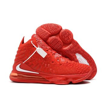 Nike LeBron 17 Red White Men Basketball Sneaker- Best Deal Online