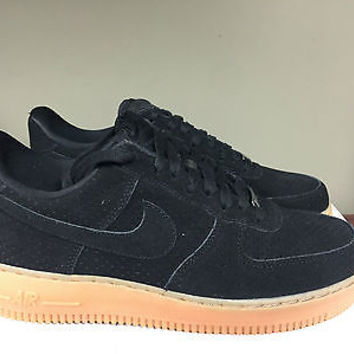 promo code dbf69 2acdf nike air force 1 07 black gum sole