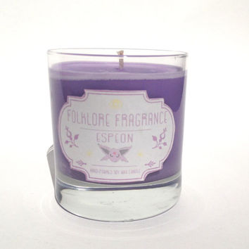 ON SALE! Espeon - Pokemon Inspired Scented Soy Candle (Amber + Cocoa)
