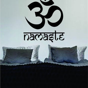 Om Namaste Design Yoga Mandala Decal Sticker Wall Vinyl Decor Art
