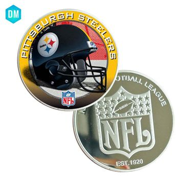 Birthday Souvenir Gifts 999.9 Silver Plated PITTSBURGH STEELERS Commemorative NFl Coin Metal Crafts Art Ornament