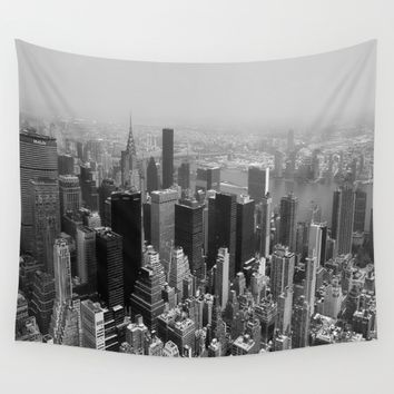 New York City Black and White Wall Tapestry by Forand Photography | Society6
