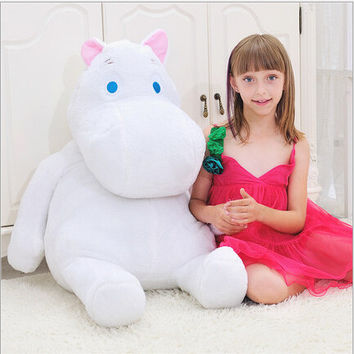 Genuine Huge 60cm Moomin Hippo Plush Toy Stuffed Animal Doll Valentine's Day gift lover