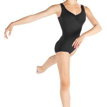 Adult Tank Leotard with Front Pink D7500