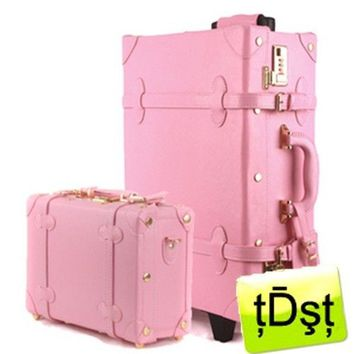Japanese Brand 20 Trolley Suitcase Luggage-  DA23-50 Set Pink
