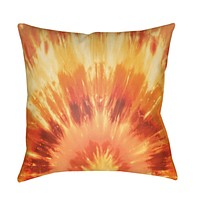 Textures Pillow Cover - Bright Orange, Dark Red, Bright Yellow - TX053