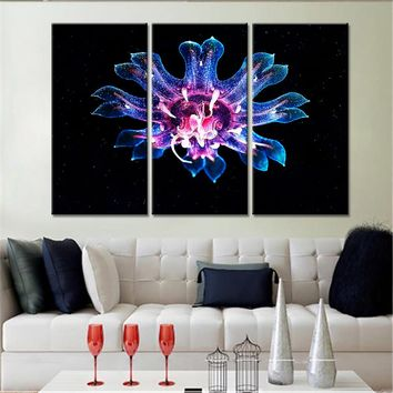 The Neon Jellyfish Modular Wall Art