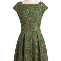 Eva Franco Evergreen and Anon Dress | Mod Retro Vintage Dresses | ModCloth.com