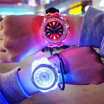 Luminous Rhinestone LED Watch
