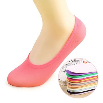 5 pairs Women slipper socks Anti-skid Invisible No show female socks Low Cut Casual Socks breathable Sheers 10 candy colors