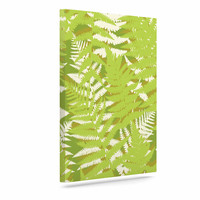 "Jacqueline Milton ""Fun Fern - Green"" Green Floral Canvas Art"