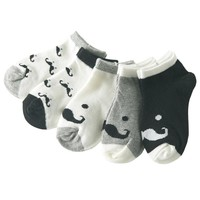 5 Pair/lot Baby Socks Fox  Beard Smiley Face Boy Girls Kids socks For Children 1-10 Year