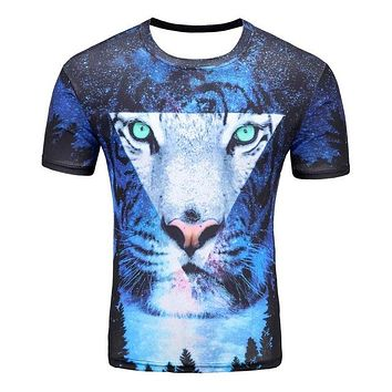 Colorful 3D Printed High Quality Tees #tiger