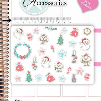 Christmas Stickers,Christmas Sticker Set,Christmas Kit,Flag Stickers,Icon Stickers,Christmas Theme Stickers,Planner Stickers NR1312