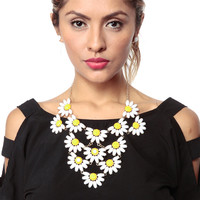 Daisy Chain Gem Necklace Set