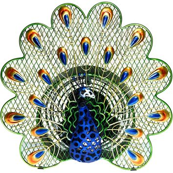 Peacock Figurine Table Fan