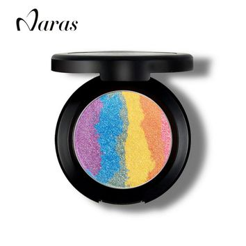 Rainbow Highlighter Makeup Bronzer For Face Highlighter Cosmetic  Palette Shimmer Iluminador Maquiagem Blusher Eyeshadow Prism