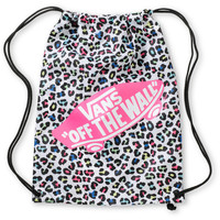 Vans White & Pink Leopard Print Cinch Bag