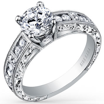 "Kirk Kara ""Charlotte"" Channel Set Diamond Engagement Ring"