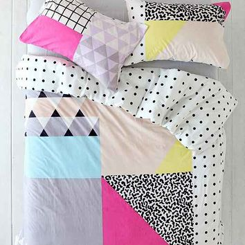 Assembly Home Pattern Block Duvet Cover- White
