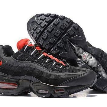 CREYONVX Jacklish Nike Air Max 95 Essential Black challenge Red- 01accdb7e05a