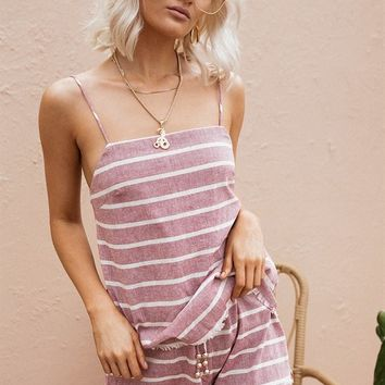 Aubrey Stripe Playsuit - Playsuits by Sabo Skirt