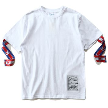 HIGH QUALITY CHAMPION PRINT WHITE T-SHIRT TOP