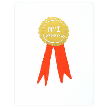 No. 1 Mom Mother's Day Card