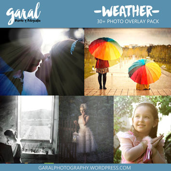 WEATHER Photoshop Overlays, JPG files pack for photographers, photoshop overlay, nature, weather, rain overlays, snow overlays, fog overlays