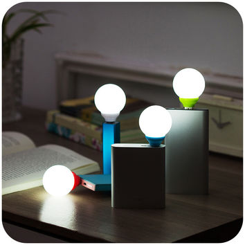 Creative mini USB bubble lights plug charging treasure dormitory bedroom lamp fixtures Nightlight