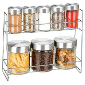 Glass Canister Spice Jar Set