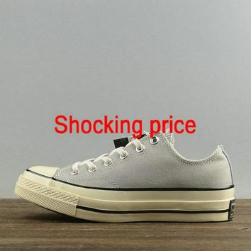 Official Unisex Converse Chuck Taylor All Star 1970s Low Medium Greyk Black White 151228 shoe