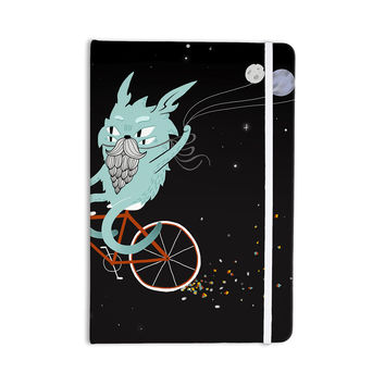 "Anya Volk ""Bunny In Space"" Red Fantasy Everything Notebook"