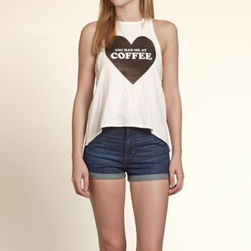 You Had Me At Coffee Lace Graphic Tank