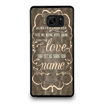 THE AVETT BROTHERS QUOTES Samsung Galaxy Note 7 Case Cover