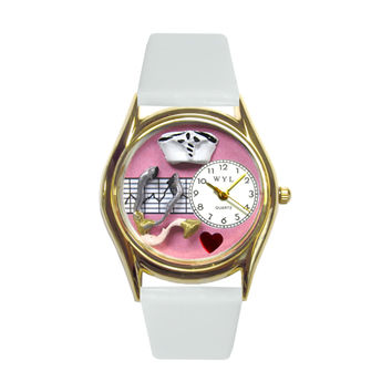 Whimsical Watches Healthcare Nurse Gift Accessories Pink Watch Classic in Gold