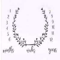 Baby Monthly Milestone First Year Baby Milestone Backdrop Blanket  Photo Prop - CC403