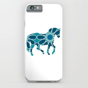 HORSE SILHOUETTE WITH PATTERN iPhone & iPod Case by deificus Art