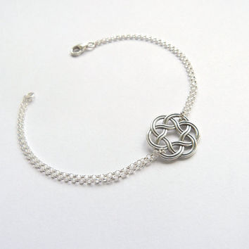 Celtic Circle Bracelet Celtic Knot Friendship Bracelet Bridesmaid Jewelry Bridesmaid Irish Wedding Thanks for helping me tie the knot Gift