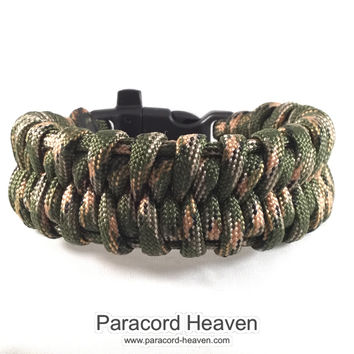 Ho Chi Minh Trail - Fishtail Belly Paracord Bracelet with Emergency Whistle