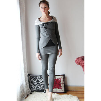 circle cardigan in cotton french terry - WAFFY loungerie and loungewear range - made to order