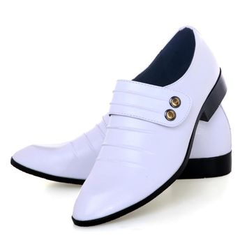 2016 Top Sell new men's leather shoes,White men's business dress shoes men shoes