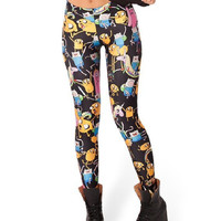 Adventure Time Montago Black Leggings Digital Print Bandage Yoga Pants