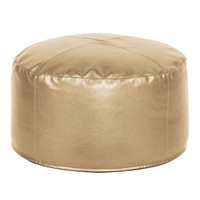Howard Elliott Pouf Foot Ottoman, Shimmer Gold  - Howard Elliott 871-880