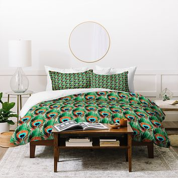 Belle13 Peacock Eye Pattern Duvet Cover
